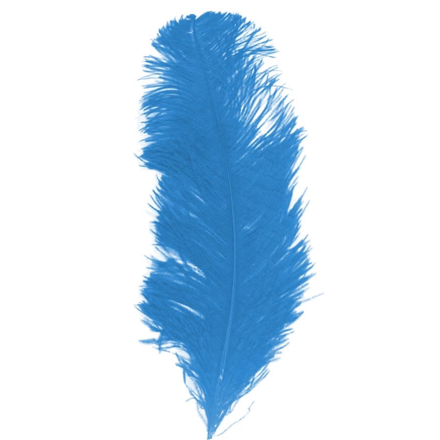grande plume bleue d 39 autruche 25 32cm. Black Bedroom Furniture Sets. Home Design Ideas