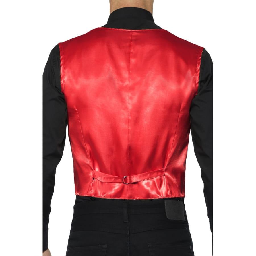 gilet rouge sequins pour homme. Black Bedroom Furniture Sets. Home Design Ideas