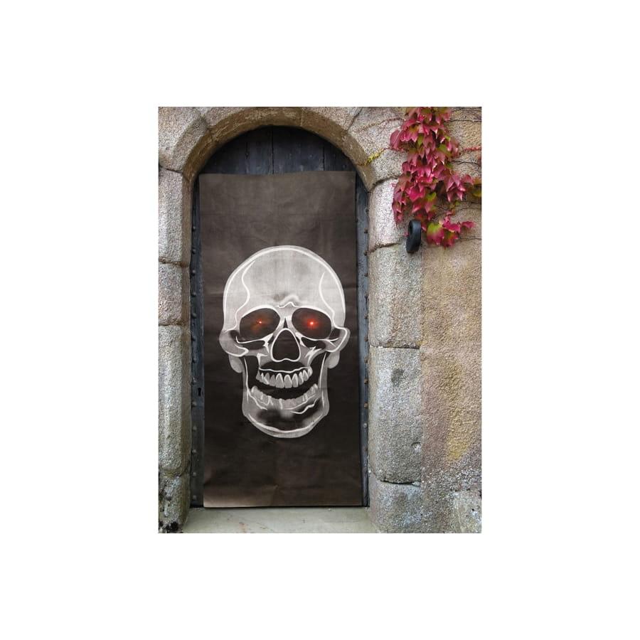 Grande t te de mort sonore bienvenue pour porte for Decoration porte bienvenue