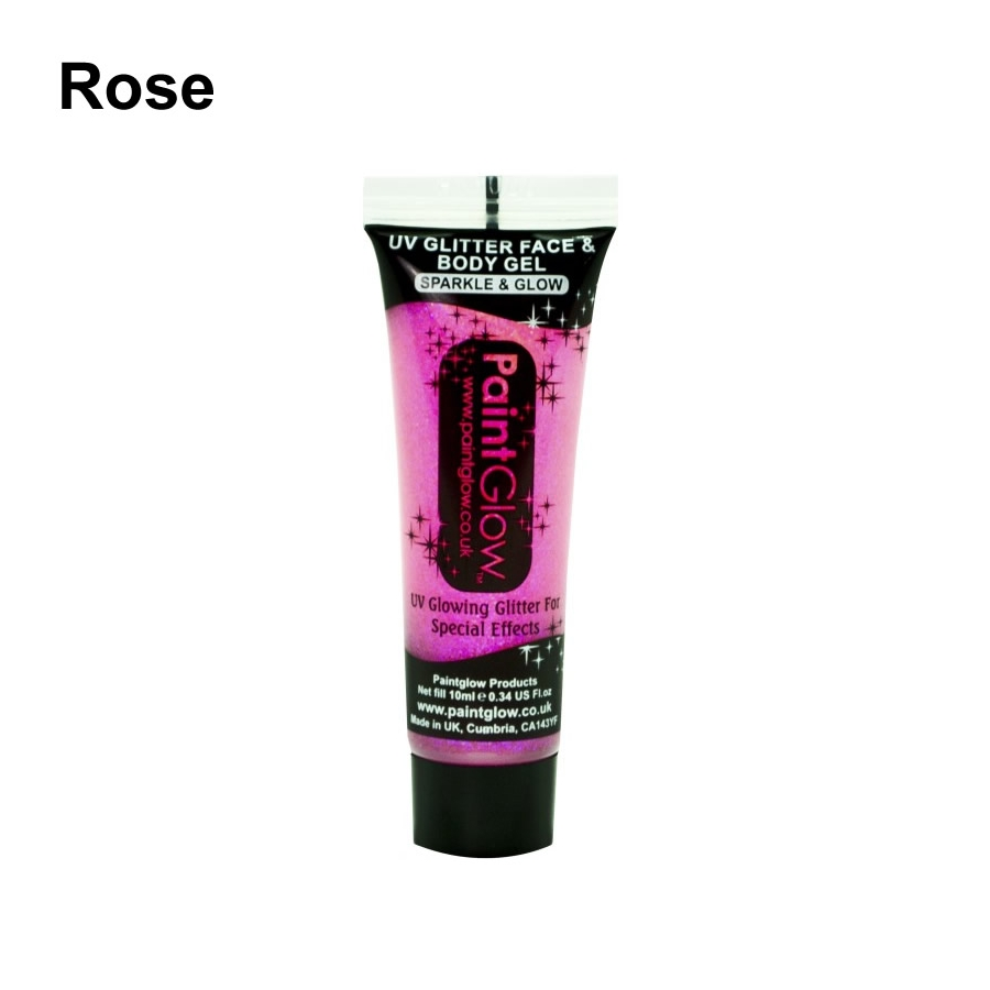Gel uv fluo paillettes 10ml - Gel rose fluo ...