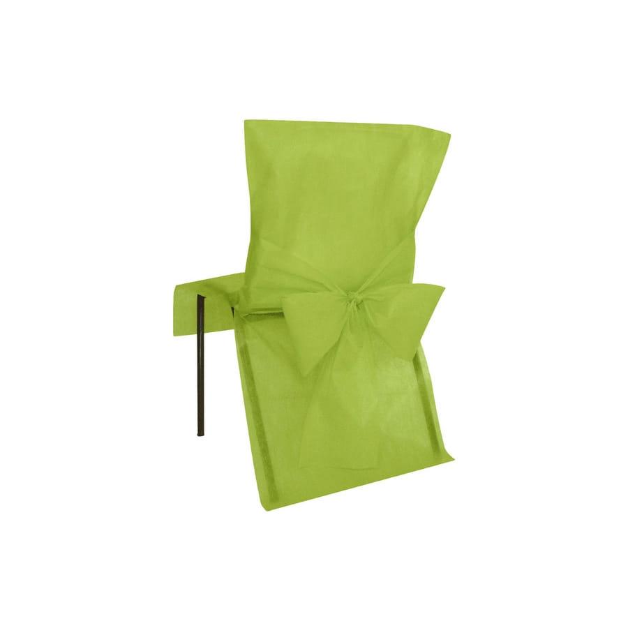housses de chaise verte non tiss - Chaise Verte