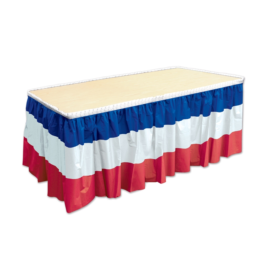 jupe de table drapeau fran ais bleu blanc rouge. Black Bedroom Furniture Sets. Home Design Ideas