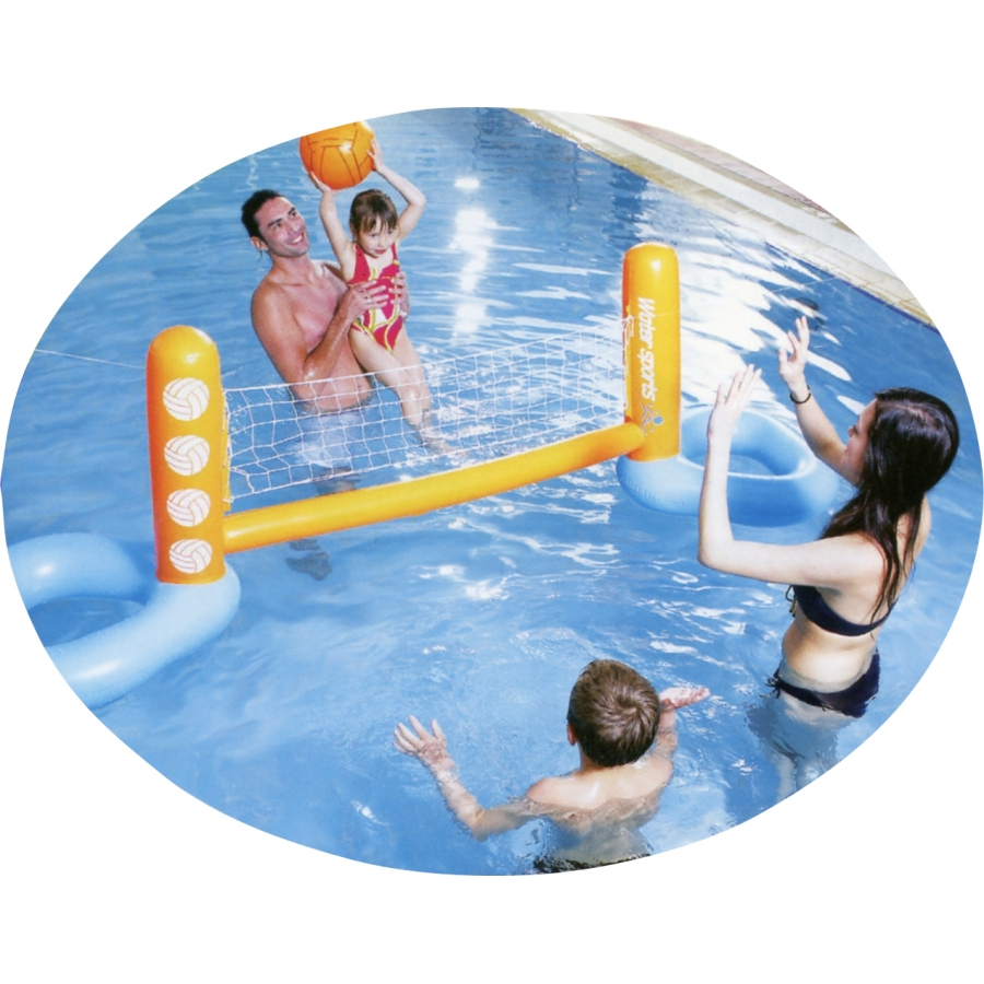 Jeu de volley ball de piscine gonflable for Piscine a balle gonflable
