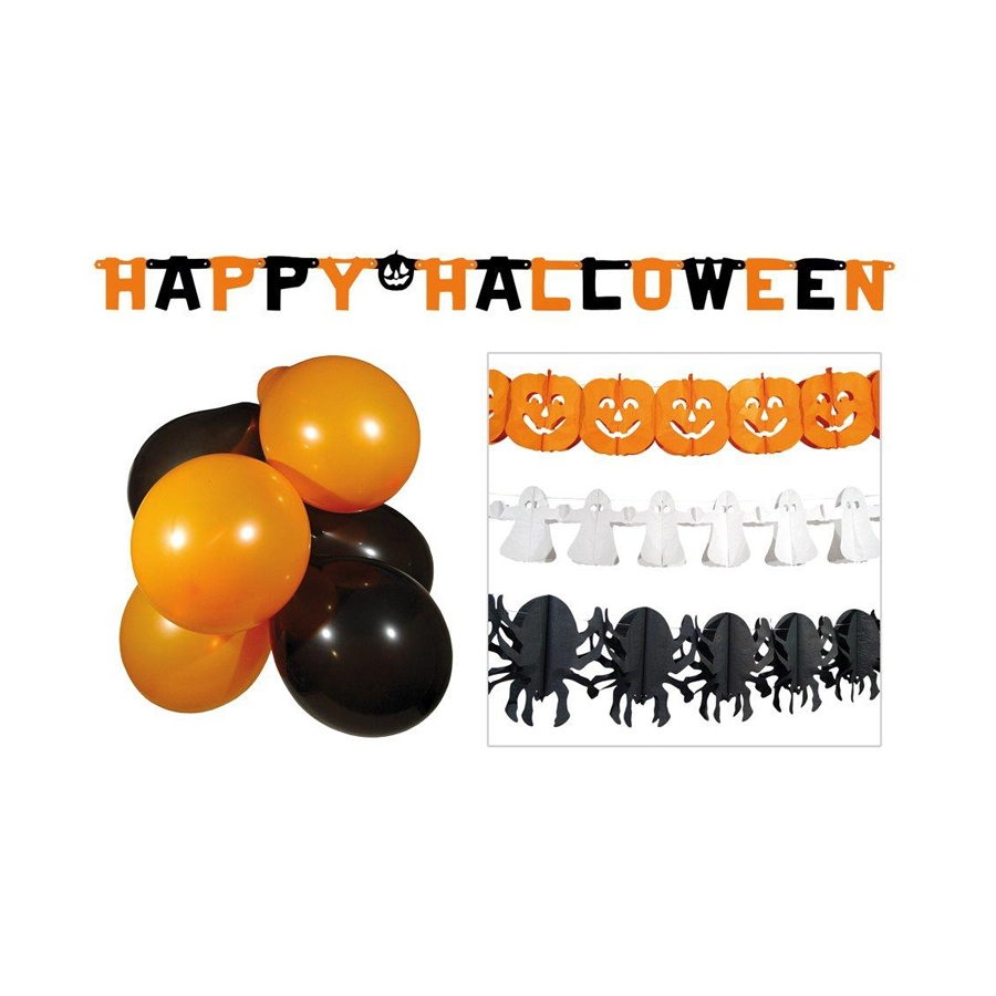 kit de d coration halloween pour vitrine. Black Bedroom Furniture Sets. Home Design Ideas