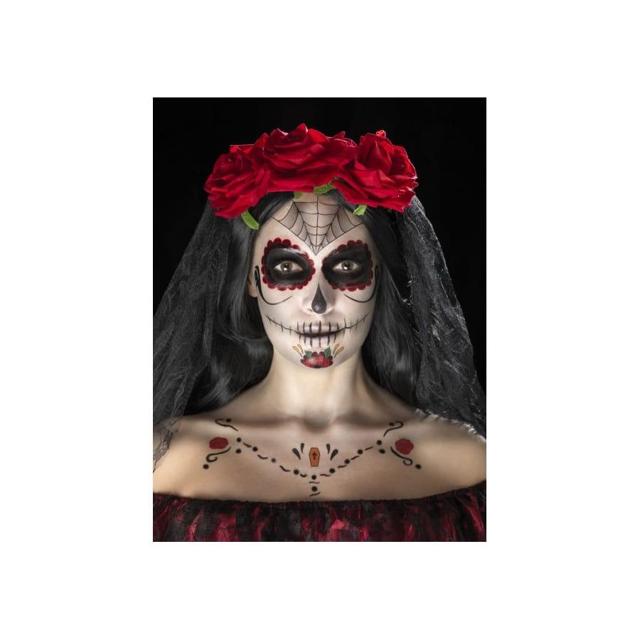 Kit de maquillage jour des morts d calcomanies - Maquillage fete des morts ...