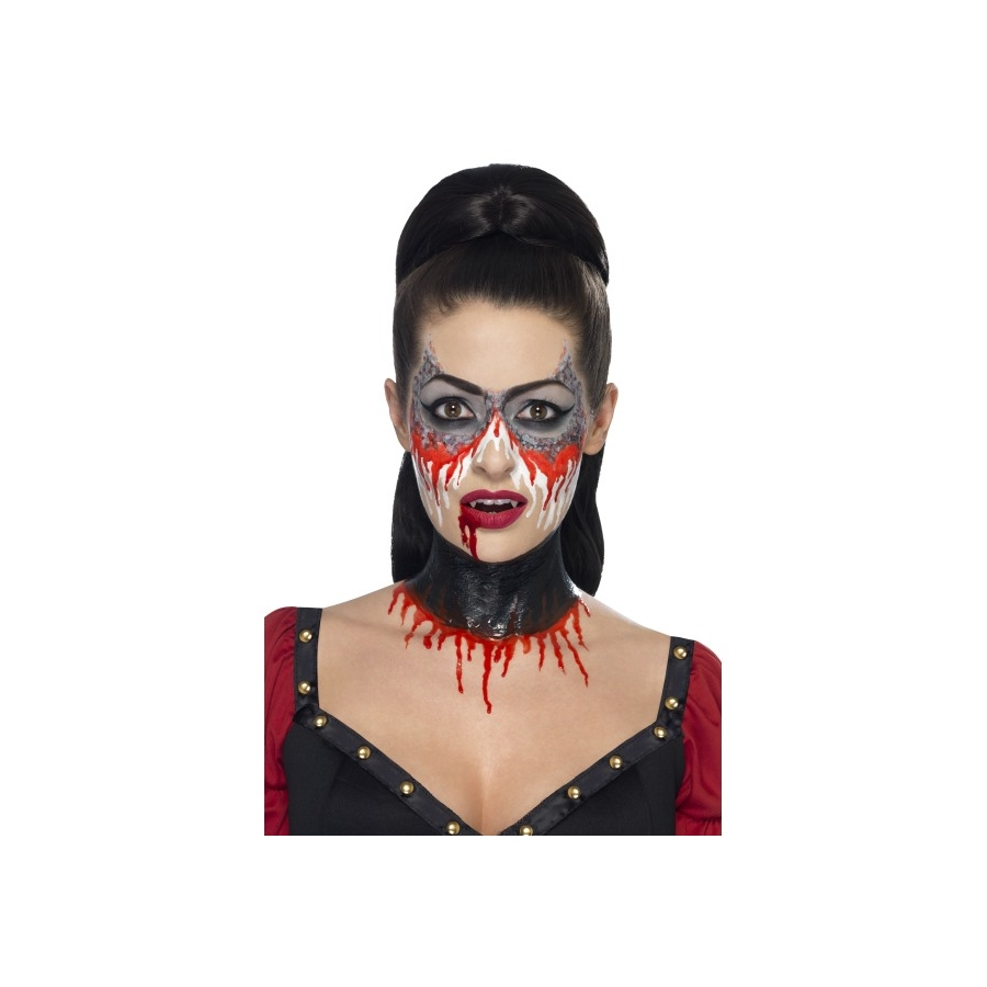 photo maquillage vampire maquillage halloween fille. Black Bedroom Furniture Sets. Home Design Ideas