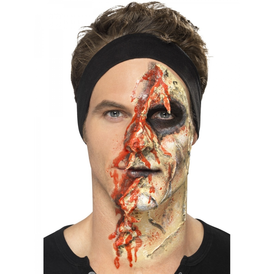 Kit pour maquillage de zombie au latex - Maquillage halloween latex ...