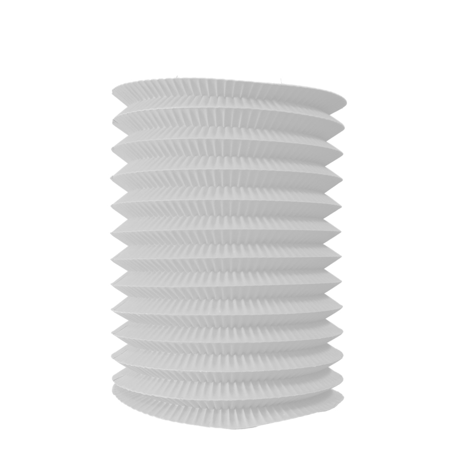 lampion blanc cylindrique de 16 26 cm. Black Bedroom Furniture Sets. Home Design Ideas