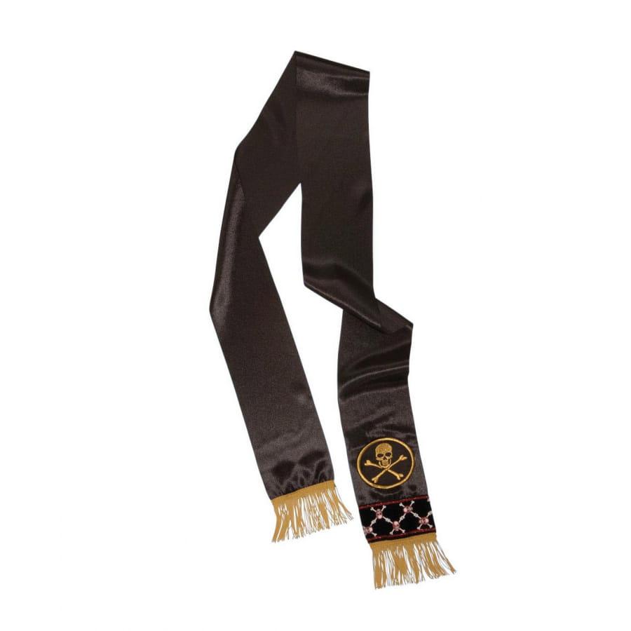 Large ceinture noire de pirate avec franges dorées, image 1 d81666734a4
