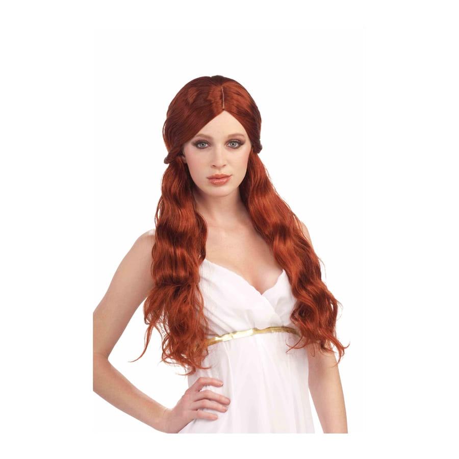 perruque femme rousse longue