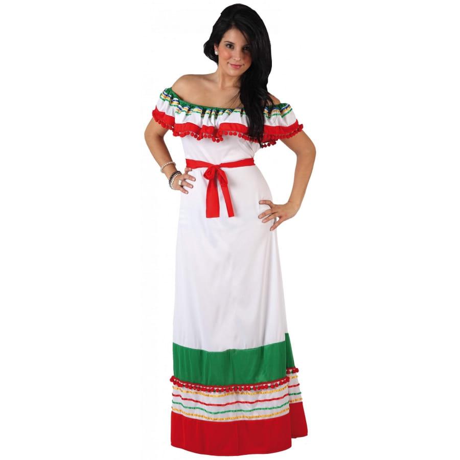 Aux Mexique Longue Robe Du Couleurs OkPnNw80X