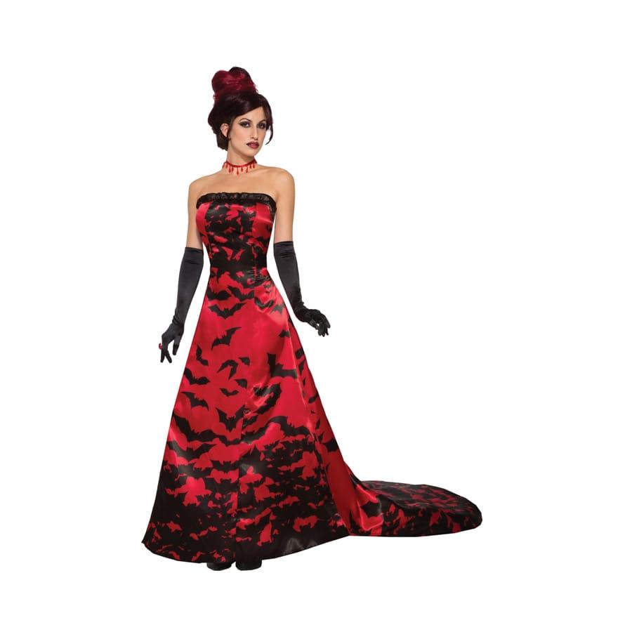 Longue robe de vampire avec train e chauve souris - Chauve souri vampire ...