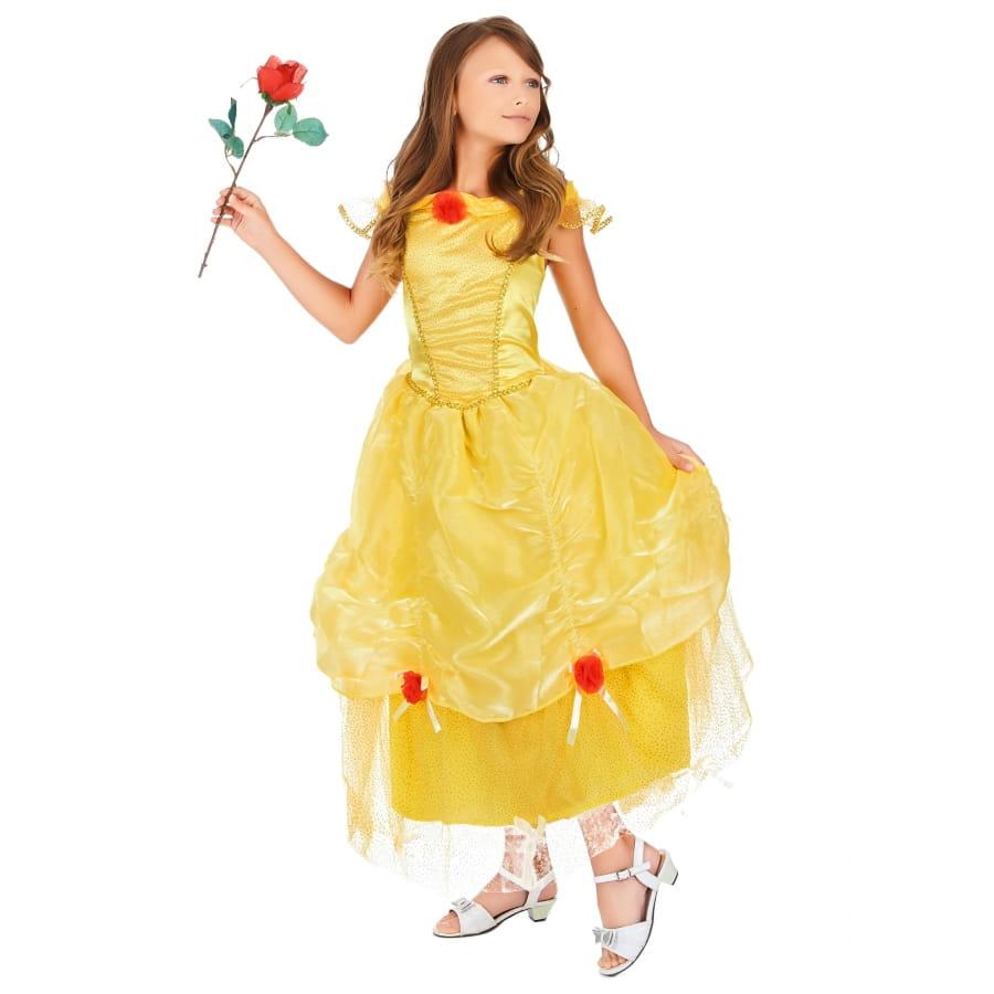 Extraordinaire Longue robe jaune de Belle princesse pour enfant XX-14
