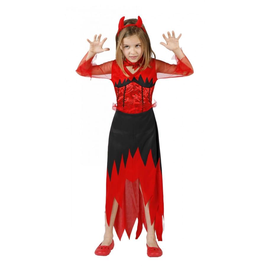 Longue robe noire et rouge de petite diablesse - Petite diablesse ...