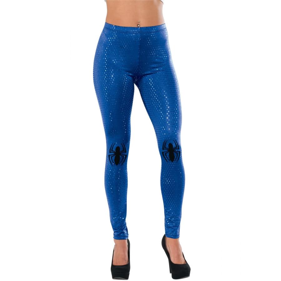 Femme Legging Spiderman Moulant Pailleté Bleu Pour hQsrCtdx