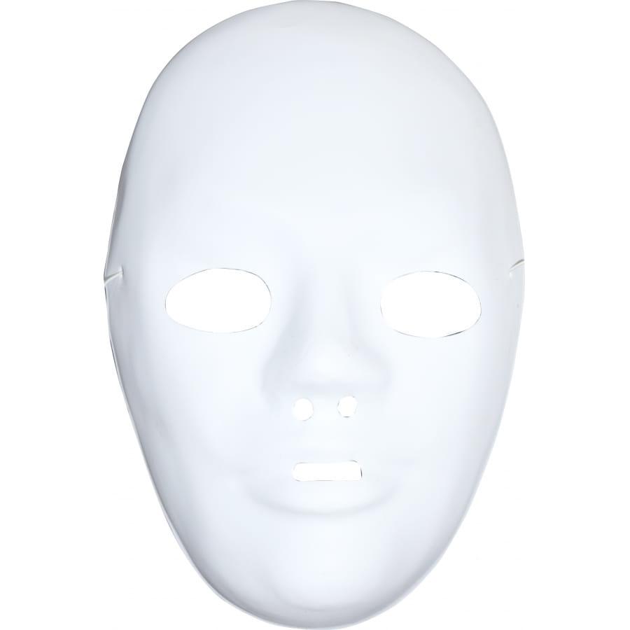 Masque blanc avec front a peindre et d corer for Decorer un masque blanc