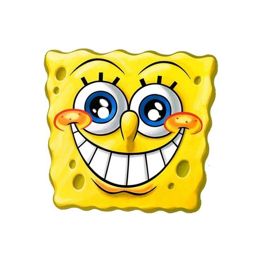 Masque de bob l 39 ponge grand sourire - Bob l eponge halloween ...