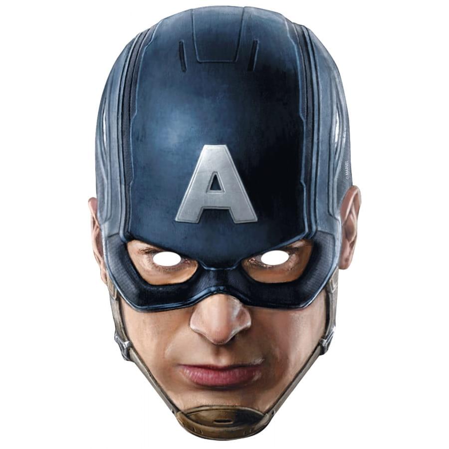 Masque du captain america en carton avengers - Masque de captain america ...