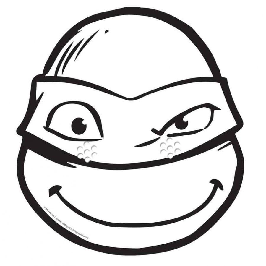 Masque de Donatello à colorier