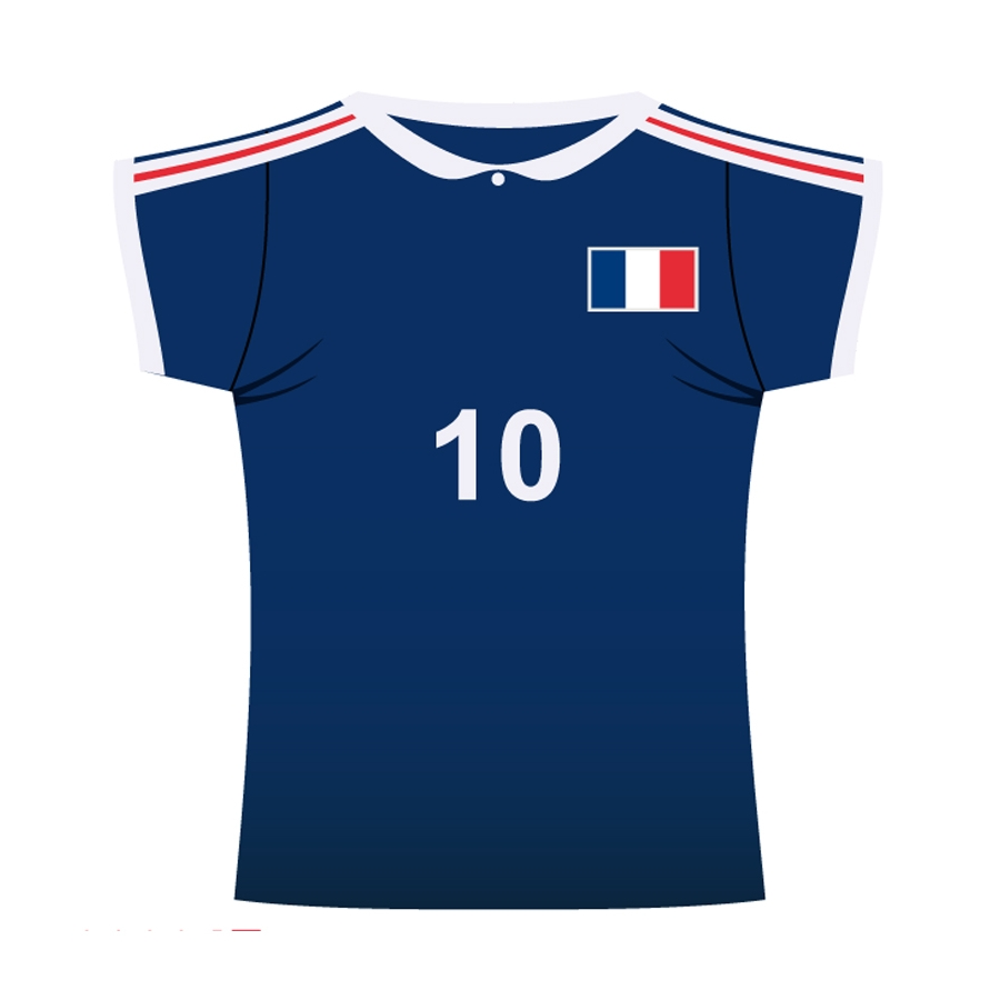 maillot de foot france en carton. Black Bedroom Furniture Sets. Home Design Ideas