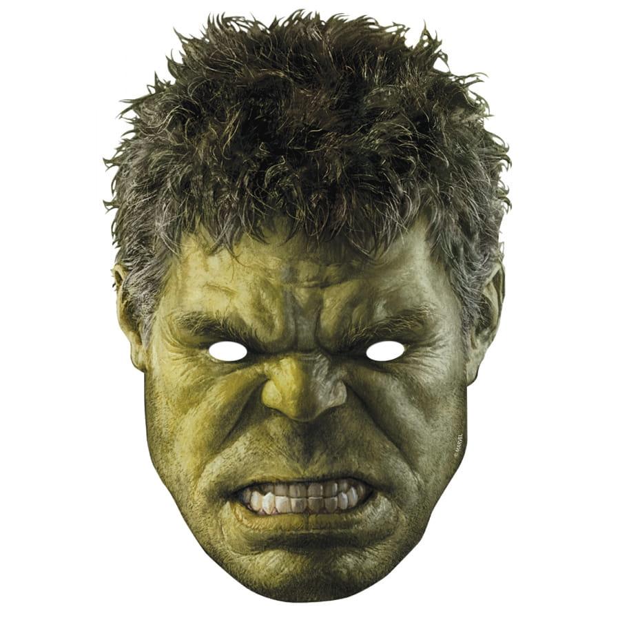 Masque De Hulk En Carton Avengers