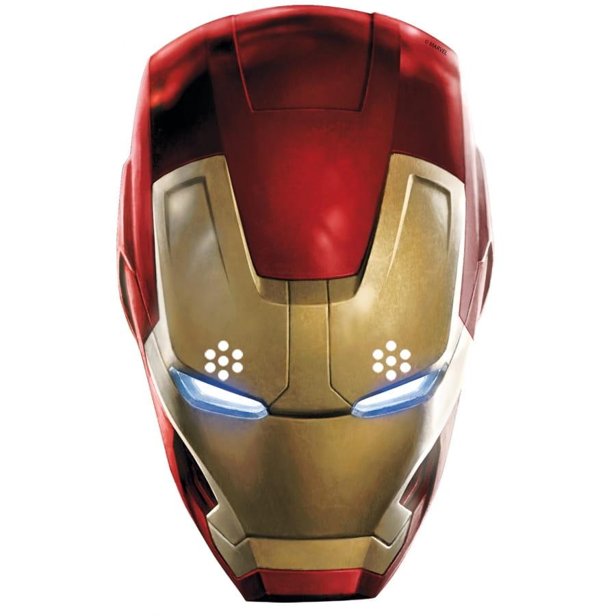 Masque de iron man en carton avengers - Masque iron man adulte ...