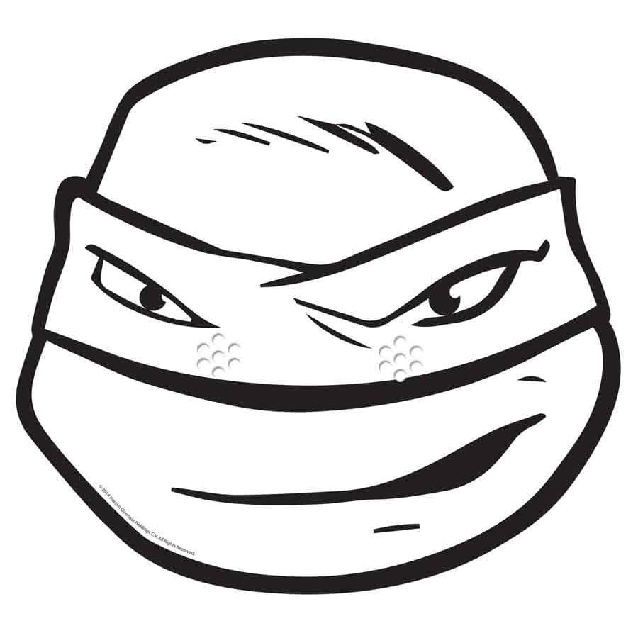 Masque De Léonardo à Colorier