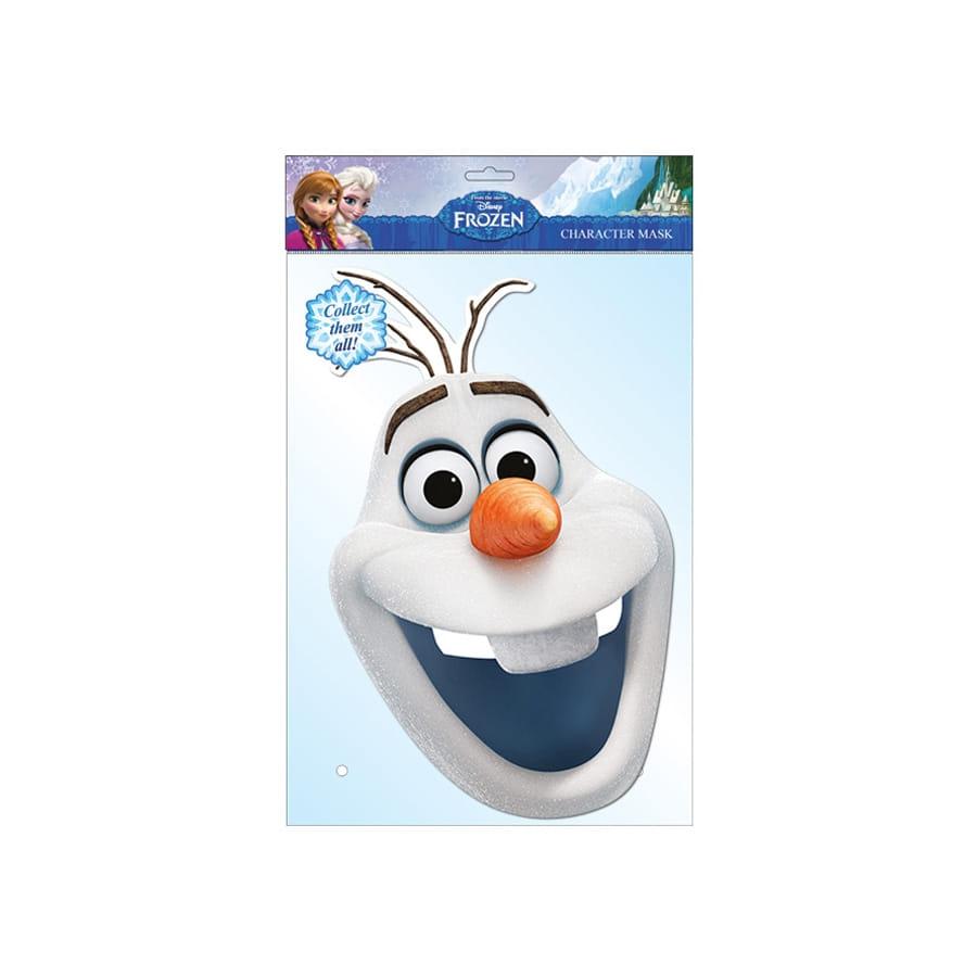 Masque de olaf reine des neiges en carton - Olaf de la reine des neige ...