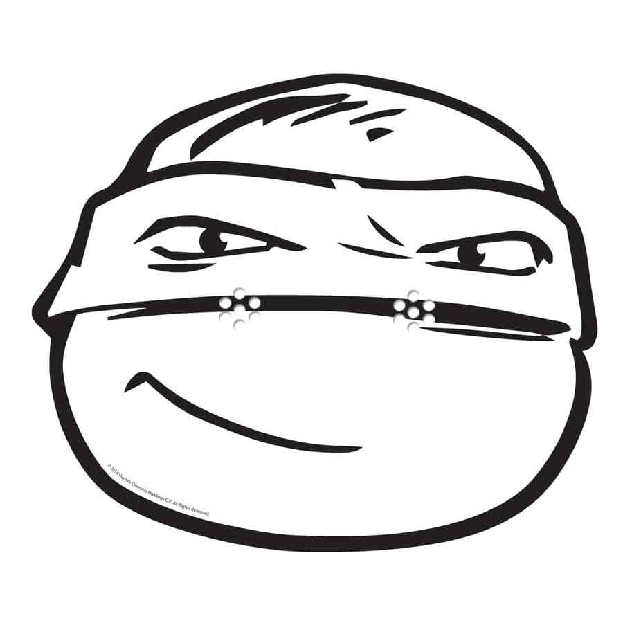 Masque de raphael a colorier tortue ninja