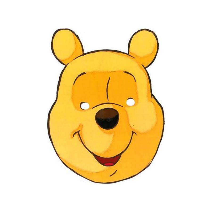 Masque de winnie l 39 ourson en carton - Winnie l ourson a colorier ...