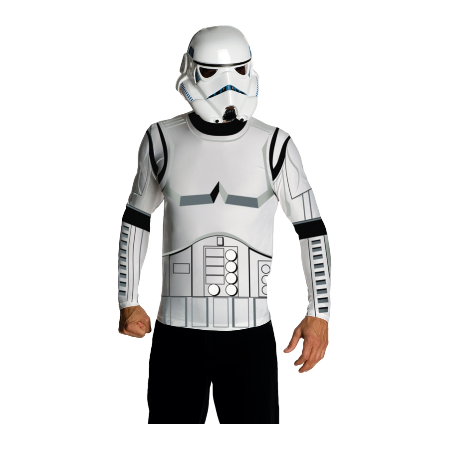 masque et t shirt de stormtrooper. Black Bedroom Furniture Sets. Home Design Ideas