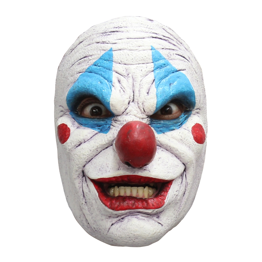 Masque facial de clown tueur en latex - Maquillage de clown facile ...