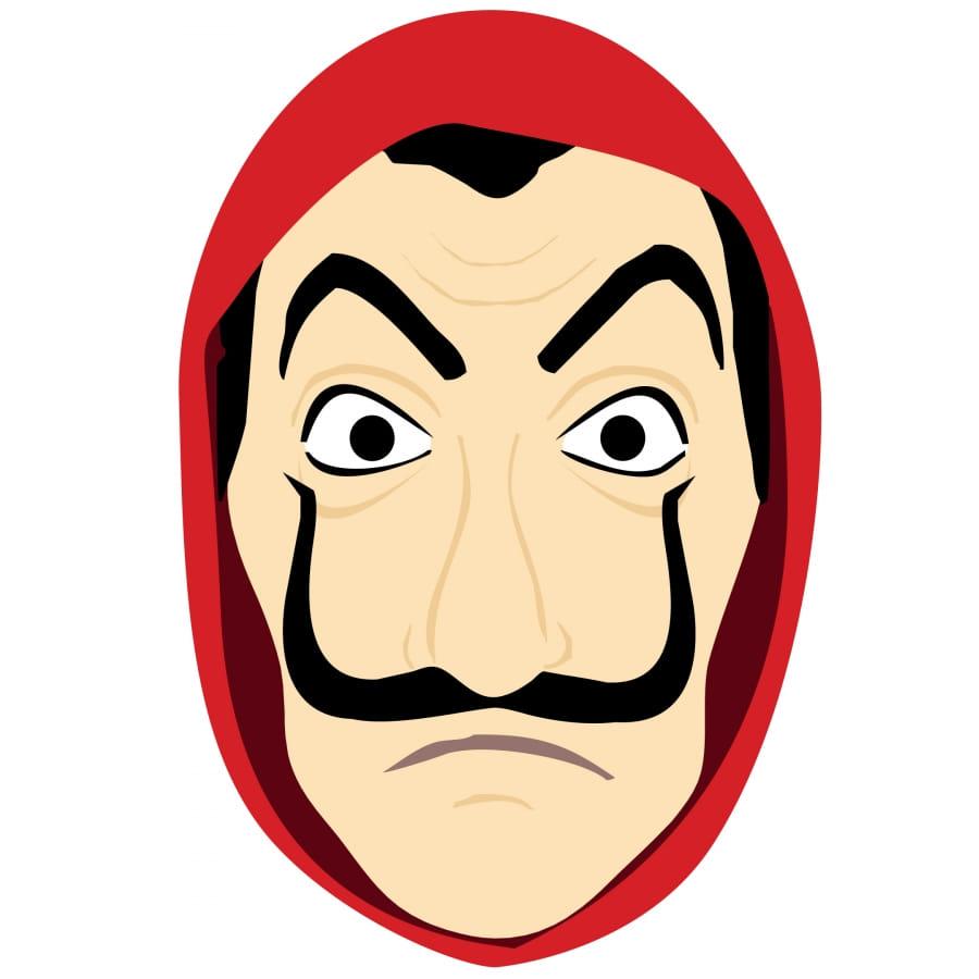 Masque Facial La Casa De Papel Dessin En Carton