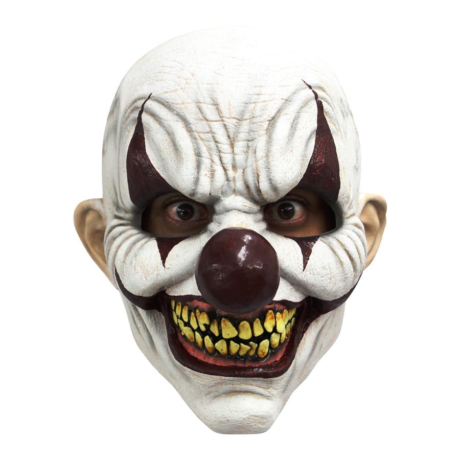 Masque int gral de clown blanc effrayant - Masque qui fait peur a imprimer ...