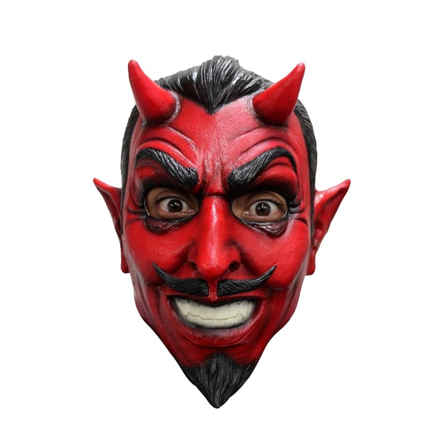 The Devil S Music De Maskers: Masque Intégral De Diable Rouge Moustachu