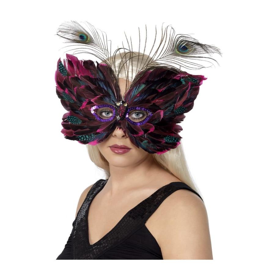 Masque loup papillon - Masque papillon carnaval ...