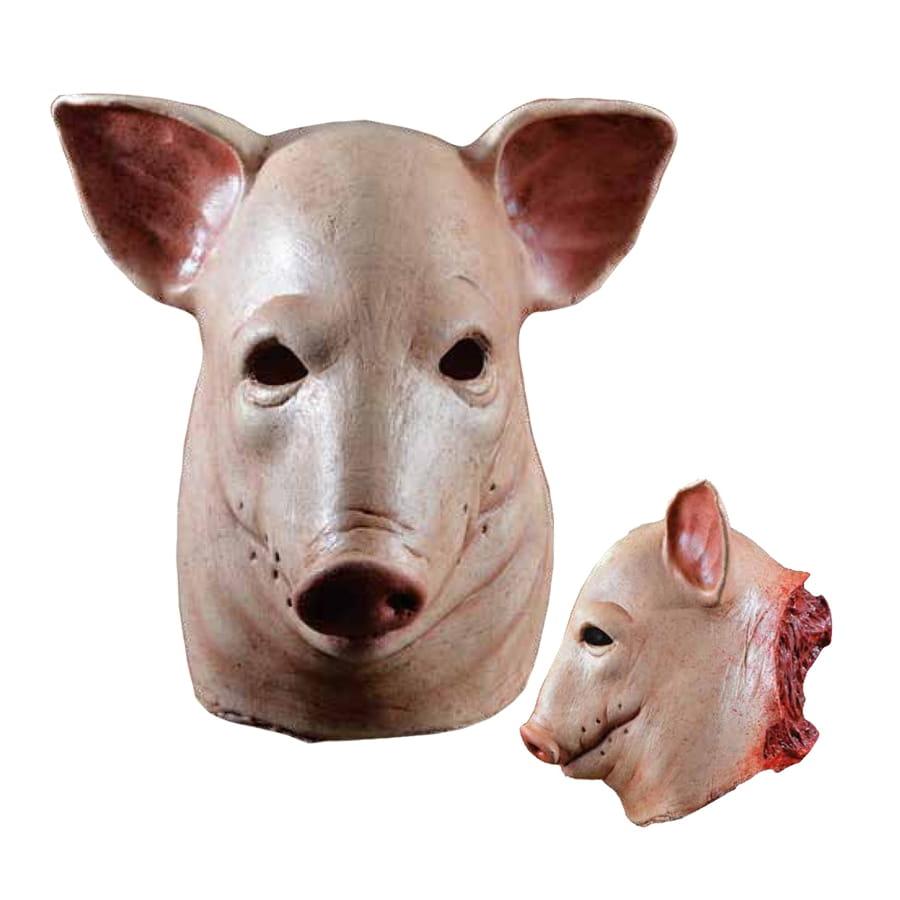 Masque t te de cochon coup e - Tete de cochon a colorier ...