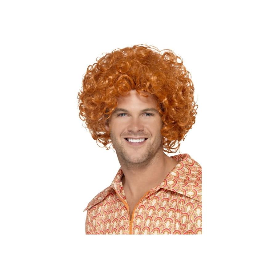 Perruque afro ondulée rousse pour homme