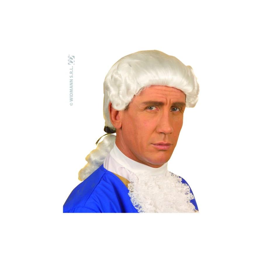 Perruque baroque blanche pour homme