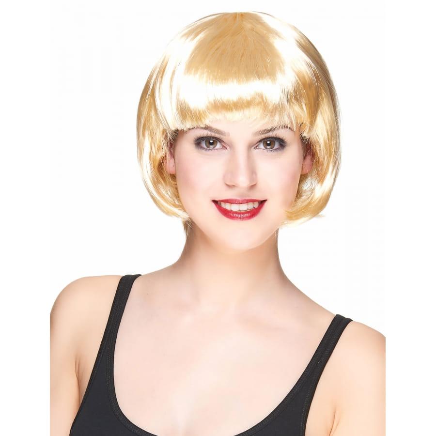 perruque blonde carr court avec frange droite. Black Bedroom Furniture Sets. Home Design Ideas
