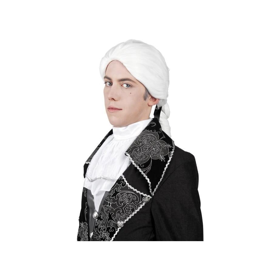 Perruque blanche style renaissance pour homme