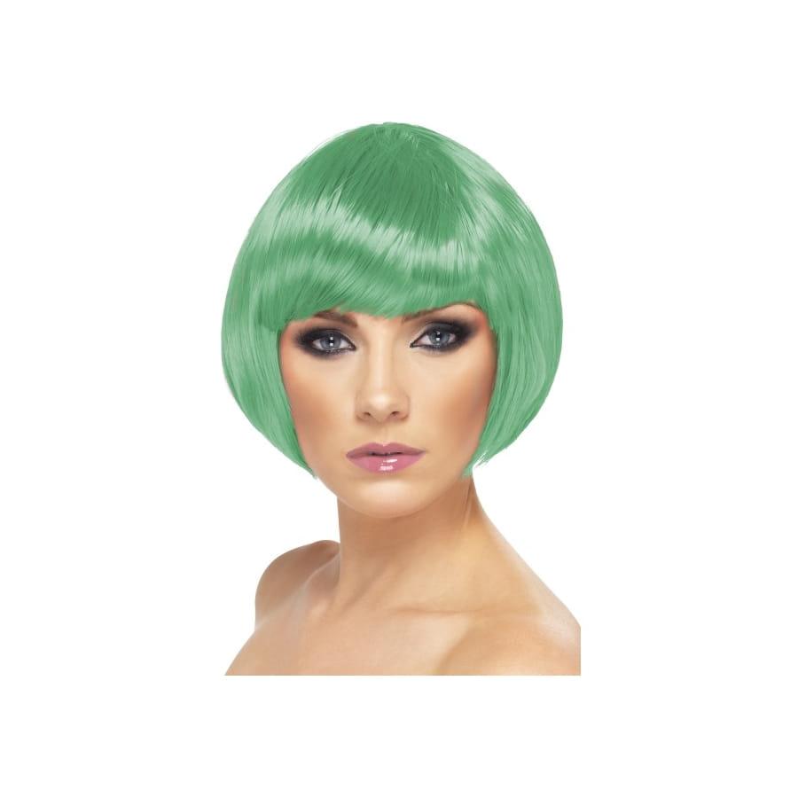 Perruque bob verte pour femme
