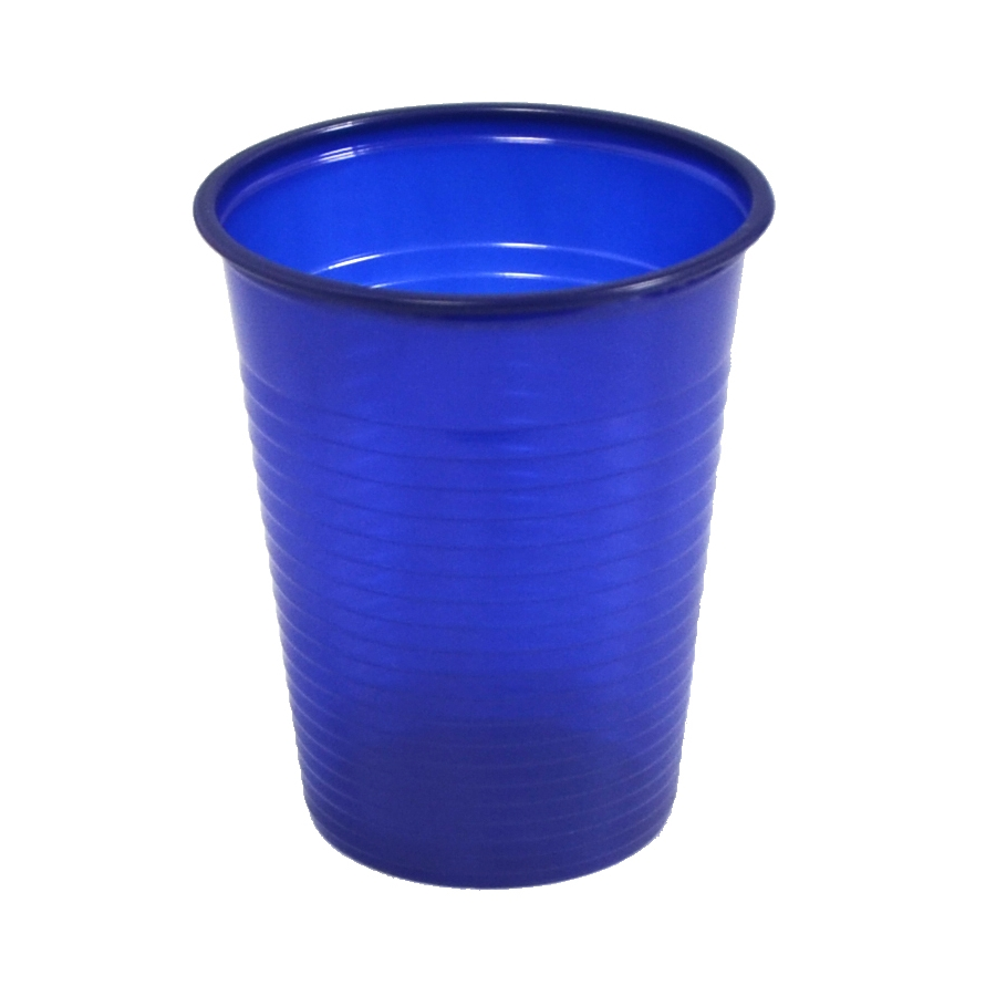 paquet de 50 gobelets plastique bleu fonce. Black Bedroom Furniture Sets. Home Design Ideas