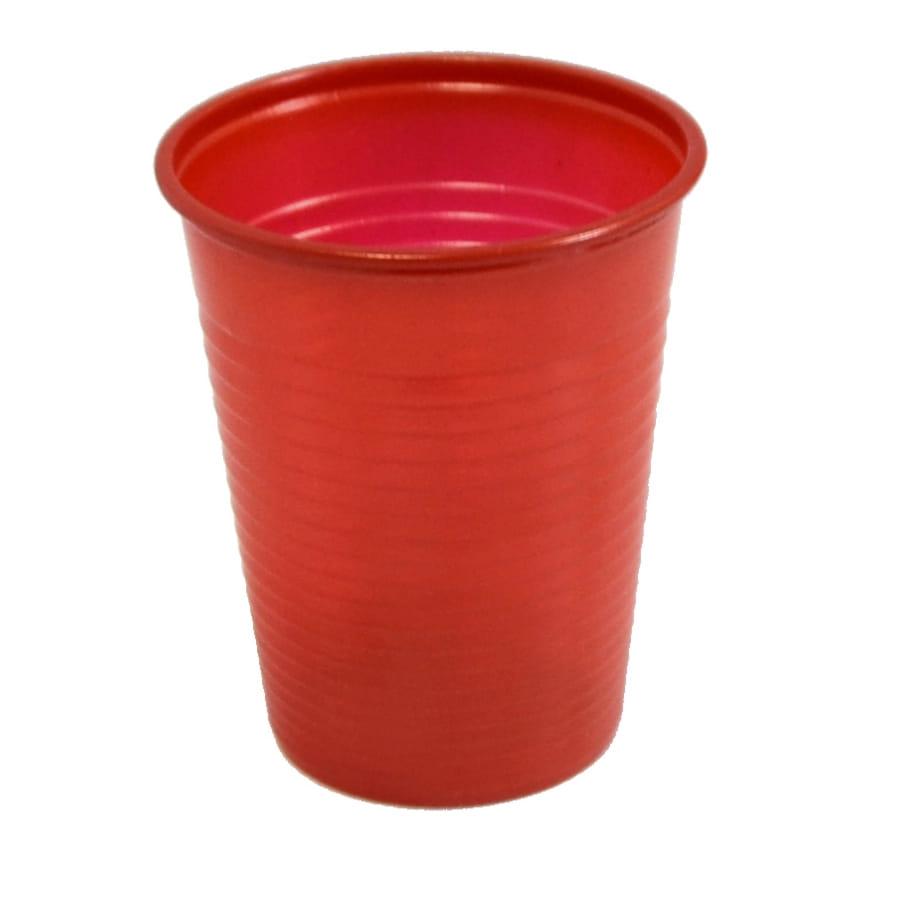 paquet de 50 gobelets plastique rouges. Black Bedroom Furniture Sets. Home Design Ideas