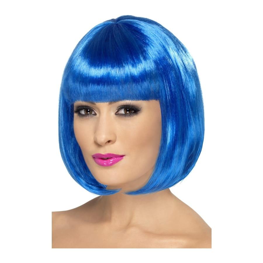Perruque femme bleu