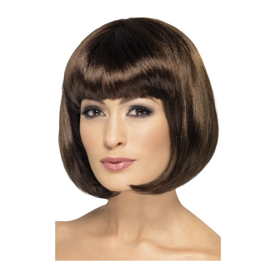 Perruque femme brune