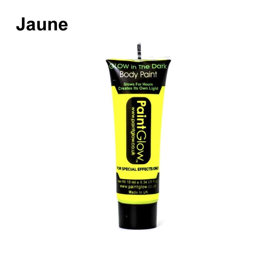Peinture fluo corps met sa propre lumi re for Peinture jaune fluo