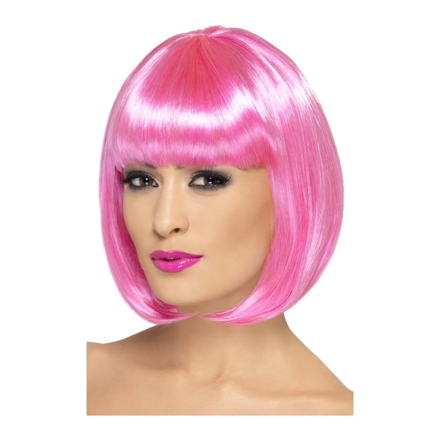 Perruque femme rose