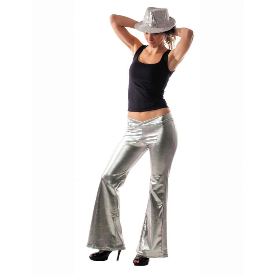 Argenté Holographique Femme Femme Pantalon Pantalon Argenté Pour Pour Holographique Ovmn0yw8N