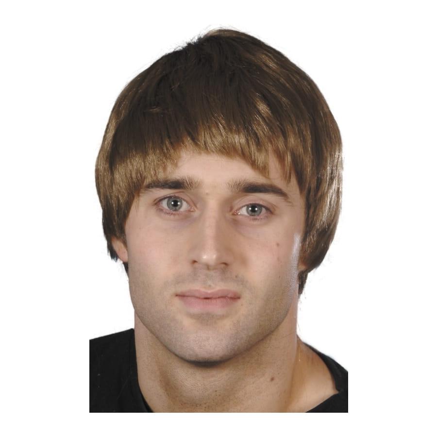 Perruque homme brune